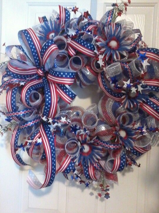 4th of july Deco Mesh Wreaths - Bing Images