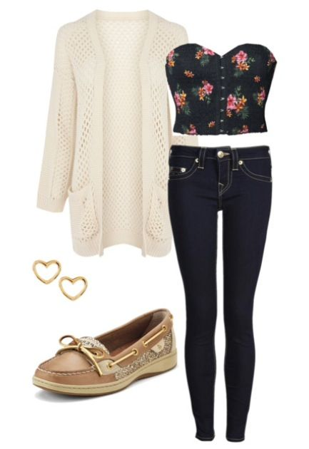 adorable outfit except with black flats instead of those shoes