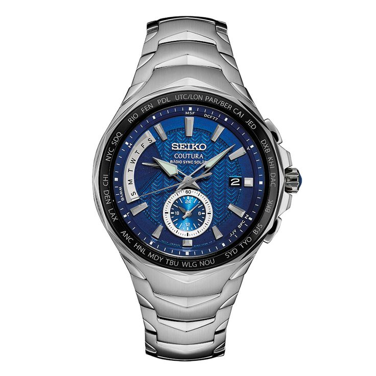 Seiko Coutura Radio Sync Solar SSG019 - Cabochon crown, Radio-controlled: Automatically receives radio signals to precisely adjust the time and calendar.