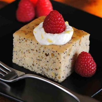 Lemon Yogurt Protein Cake- gluten free, high protein, low carb fantastic!