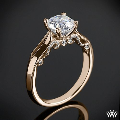 18k Rose Gold Verragio 4 Prong Knife-Edge Solitaire Engagement Ring  from the Verragio Insignia Collection. yep OMG lol not much of a gold fan but it sure looks pretty love how simple it is yet it has detail and ain't plain **
