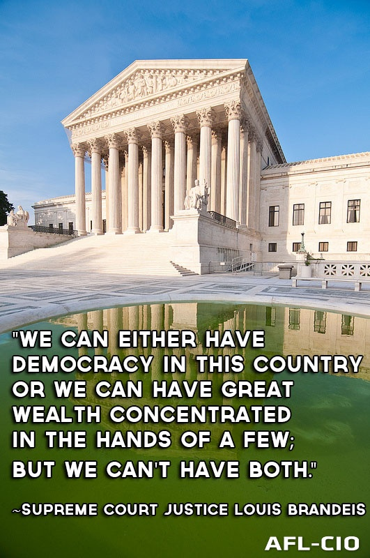 """Supreme Court Justice Louis Brandeis.      Ahhh, if only he were still on the bench when the """"citizens united"""" case was decided."""