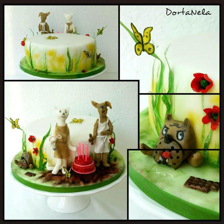 """CAKE WITH """"PUPPY AND CAT"""" (Jak pejsek a kočička dělali dort)"""