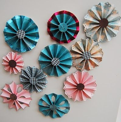 CRAFTY RED: Stampin' Up! Paper flowers