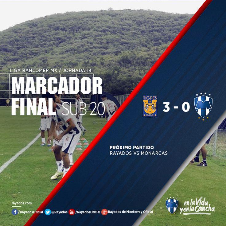 Los #Rayados Sub 20 cayeron por 3-0 ante los Tigres en la fecha 14 del #Clausura2015.