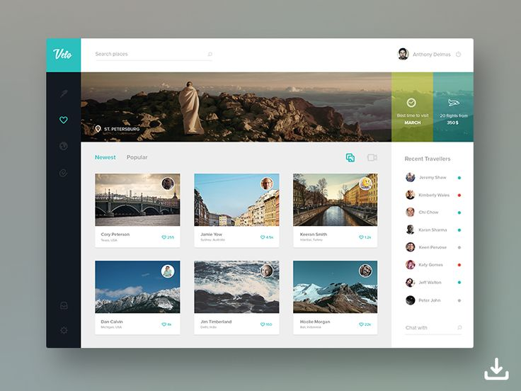 Velo Free Dashboard Template, #Dashboard, #Flat, #Free, #PSD, #Resource, #Template, #UI