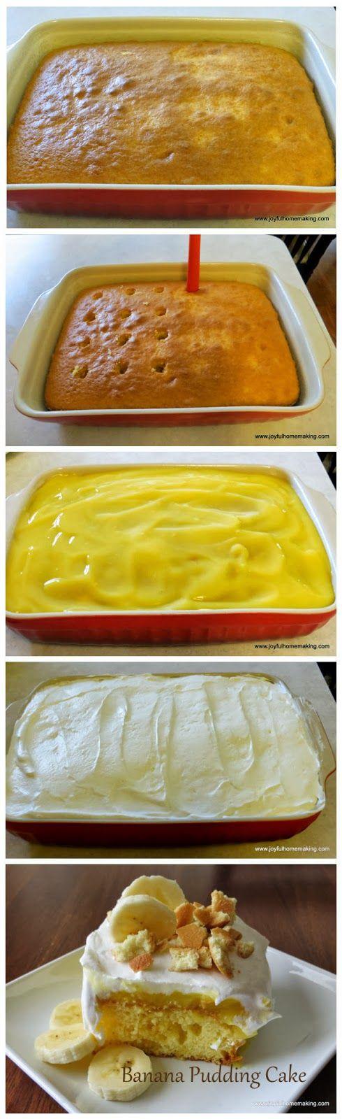 Latest Food: Banana Pudding Poke Cake