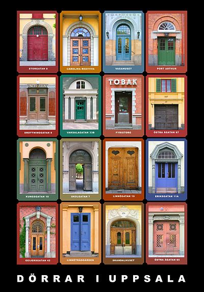 Dörrar i Uppsala / Doorways in Uppsala, Sweden, poster