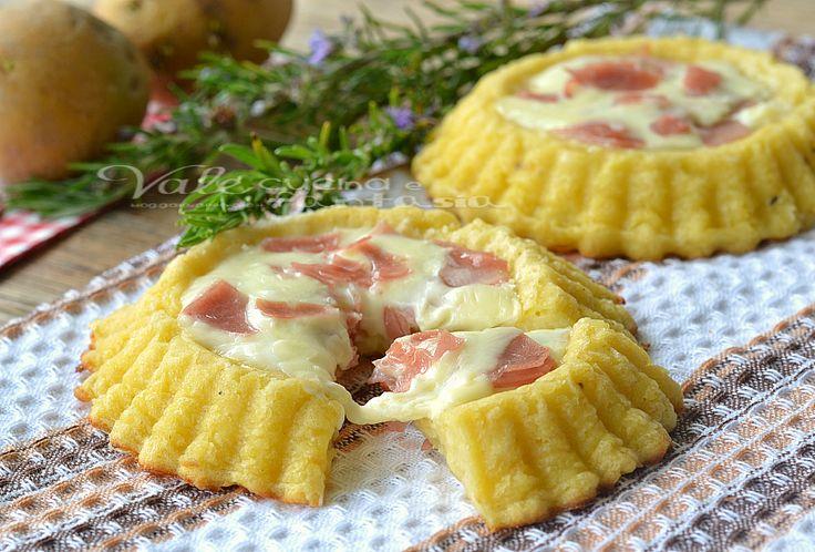 Crostatine di patate con mortadella e formaggio | Vale cucina e fantasia