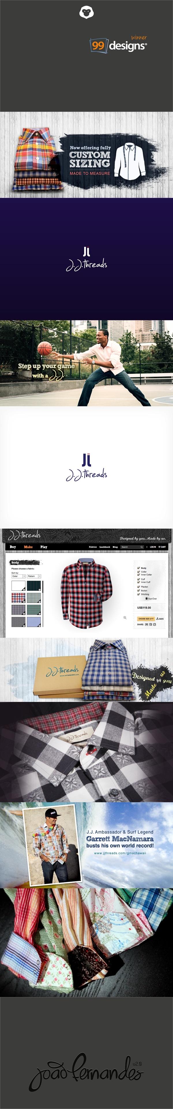 J.J. Threads | Customize your shirt by João Fernandes, via Behance @J.J. Threads