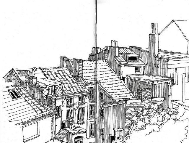 Pen Ink Urban Sketches Parka   Drawing   Pinterest   Urban Parkas And Sketches