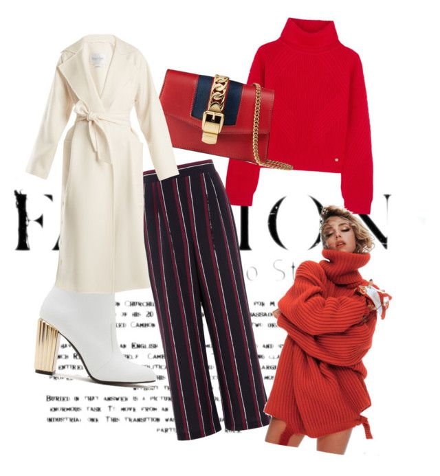 """""""Red again"""" by clarisa-pop on Polyvore featuring Versace, Qupid, Gucci and MaxMara"""