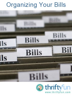 This is a guide on organizing bills. It is easy to forget to pay a bill when it gets mixed up with junk mail.  With a system for organizing bills, you will always get your bills paid on time.