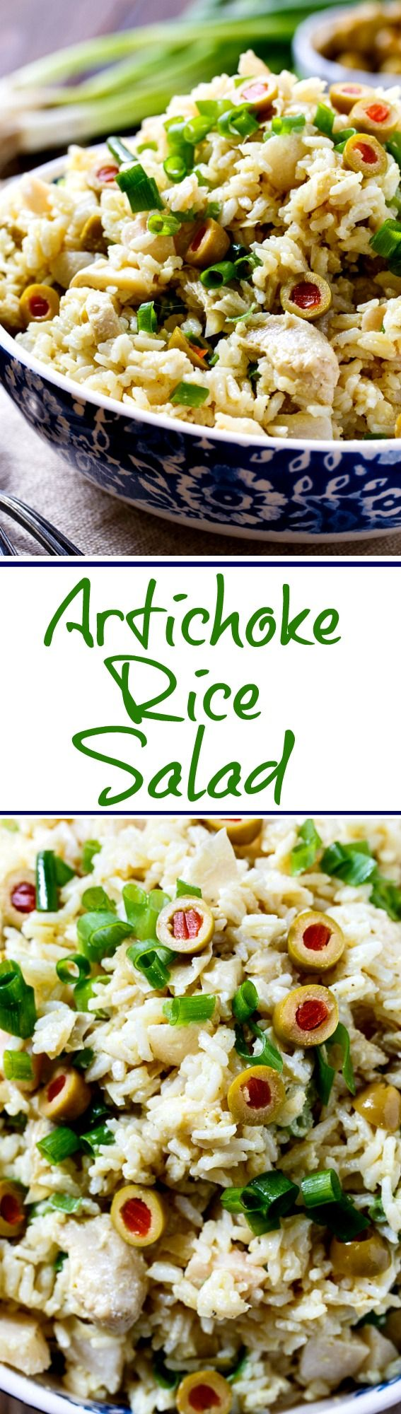 Artichoke-Rice Salad- a chilled rice salad flavored with curry powder. Perfect for summer potlucks.