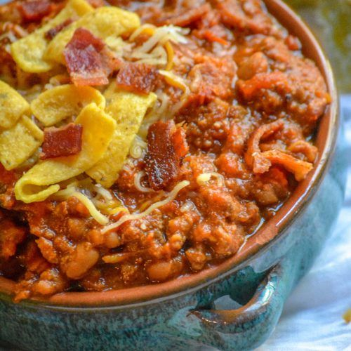 Ground Beef Bacon Baked Bean Chili 4 Sons R Us Beef Bacon Baked Beans With Bacon No Bean Chili