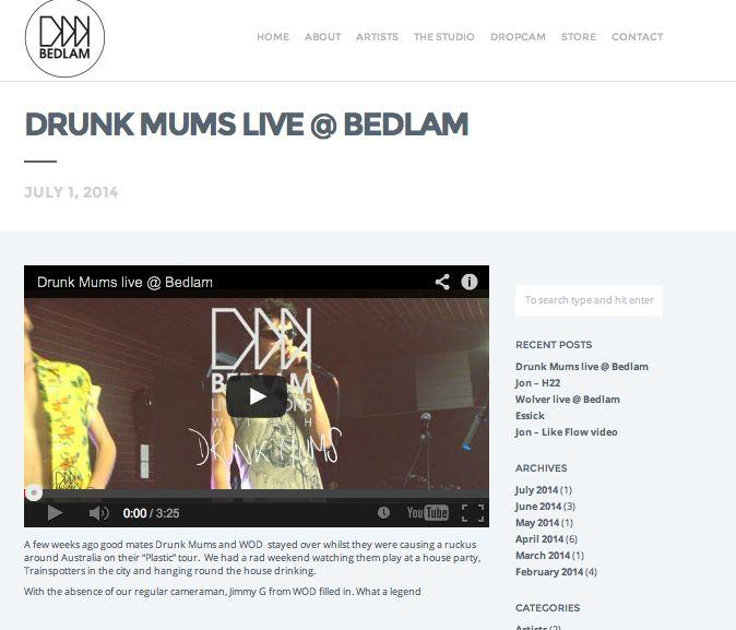 Live recording at Bedlam Studios