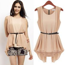 women top European Grand Prix 2014 under the frame of the new round neck sleeveless chiffon shirt wholesale Z573 women blouse est Buy follow this link http://shopingayo.space
