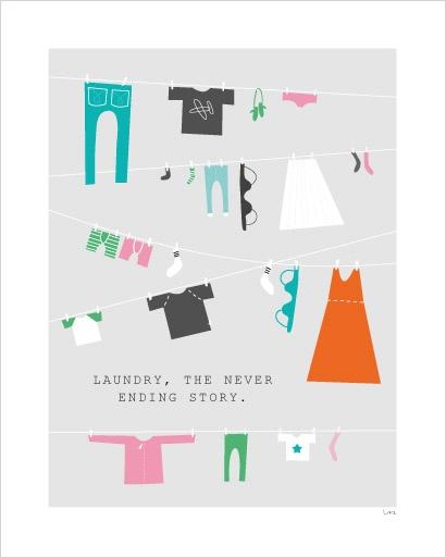 Poster till tvättstugan från Isaform.