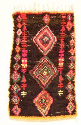 Marokkaanse Berber tapijt Boucherouite 200 x 110 cm