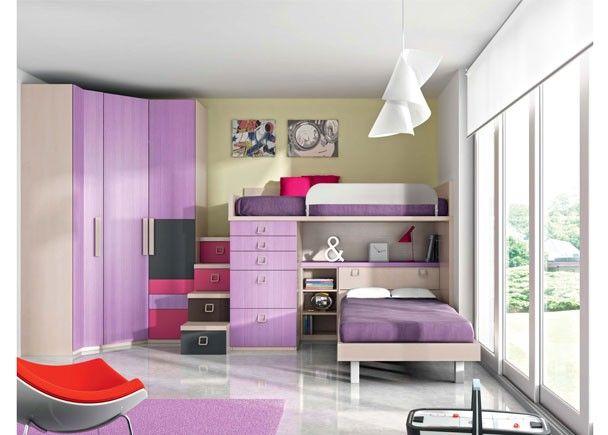 M s de 17 ideas fant sticas sobre cama alta en pinterest for Habitacion 3 camas