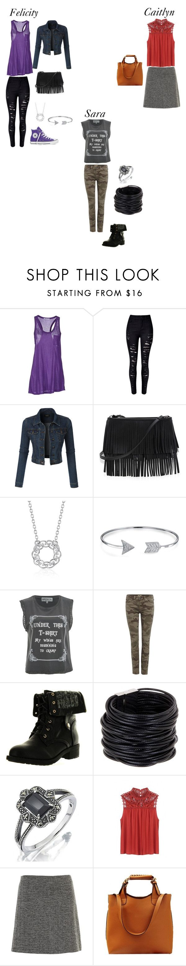 """""""Truth Bombs"""" by sara-scott-i on Polyvore featuring T By Alexander Wang, WithChic, LE3NO, Converse, White House Black Market, Blue Nile, Bling Jewelry, Wildfox, True Religion and Refresh"""