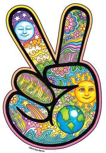HIPPIE PEACE SIGN:                                                       …                                                                                                                                                                                 Más