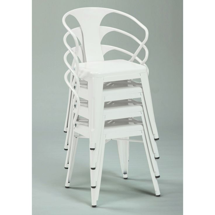 White Tabouret Stacking Chairs (Set of 4)   Overstock.com Shopping - The Best Deals on Dining Chairs
