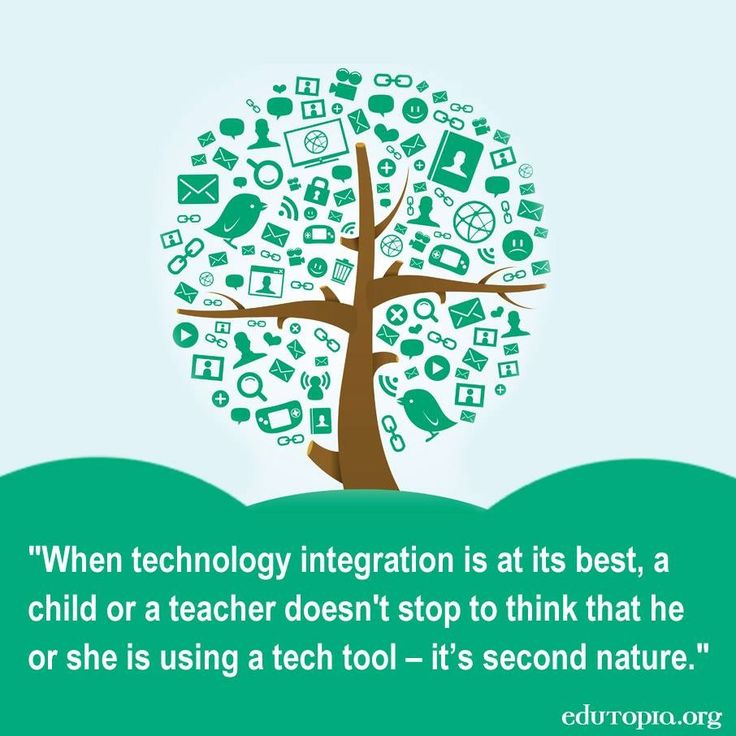 """""""When technology integration is at its best, a child or a teacher doesn't stop to think that he or she is using a tech tool - it's second nature."""""""