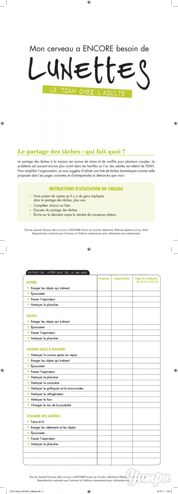TDAH-Adulte_instruction_tableau - Magazine with 7 pages: TDAH-Adulte_instruction_tableau