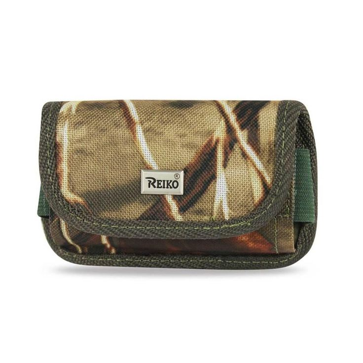 Reiko Horizontal Card Holder Rugged Pouch For Motorola Droid X Mb810 Plus Leaves Pattern