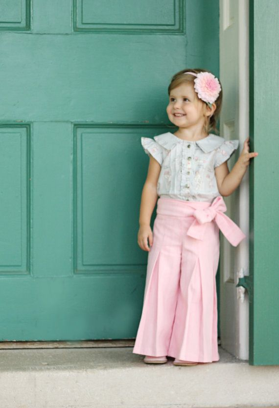Whitney Trousers & Skirt PDF Pattern and by VioletteFieldThreads, $10.95 (Oh my goodness favorite little girl outfit ever!) @Teresa Selberg Selberg Overman Barraza .... we MUST make these for the girls!!!!