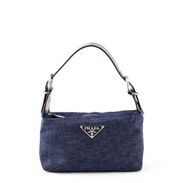 Prada Denim Mini Shoulder Bag Love That Bag Preowned Authentic