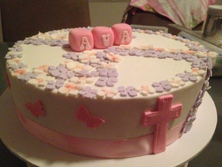 Christening cake... Girls