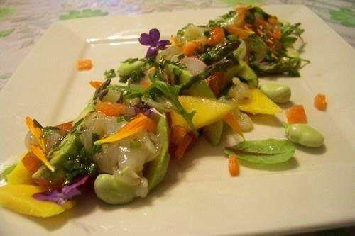 Carpaccio de langoustines   http://cuisinenfolie.blogspot.fr/2013/04/carpaccio-de-langoustines.html