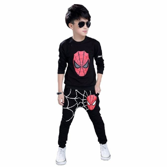 Special offer spring boys clothing spiderman kids clothes boys sports suit sets kids tracksuit boys sweatshirt & pant 3 5 7 8 10 12 14 year just only $16.97 with free shipping worldwide  #boysclothing Plese click on picture to see our special price for you