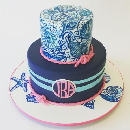 Best Monogram Cakes And Sweets Images On Pinterest Monogram - Monogram birthday cakes