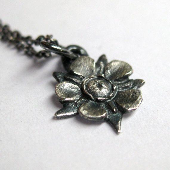 Tiny silver manuka flower tea tree flower by SuKeatesJewellery