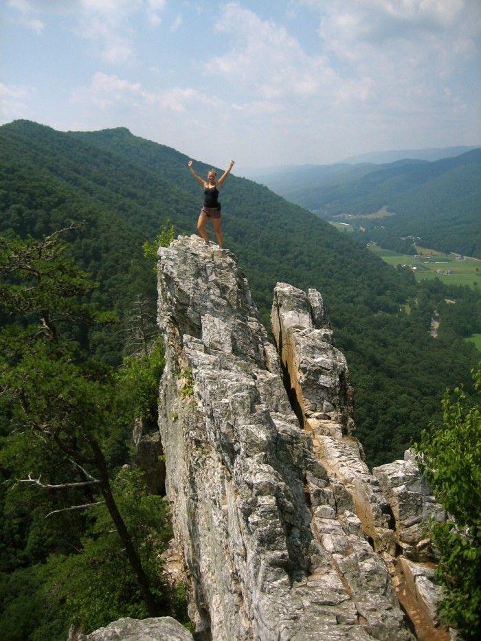 6) Seneca Rocks, located in Pendleton County, WV.