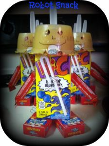 last day of school snack! Robot Snack - Moms Madhouse