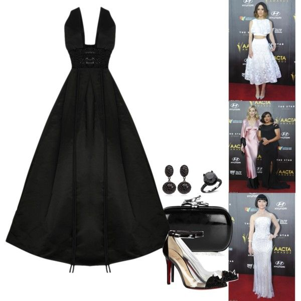 2015 AACTA Awards - Part 2. by foreverforbiddenromancefashion on Polyvore featuring Alex Perry, STELLA McCARTNEY, Christian Louboutin, Diane Von Furstenberg, Matthew Campbell Laurenza, Commando and Maticevski