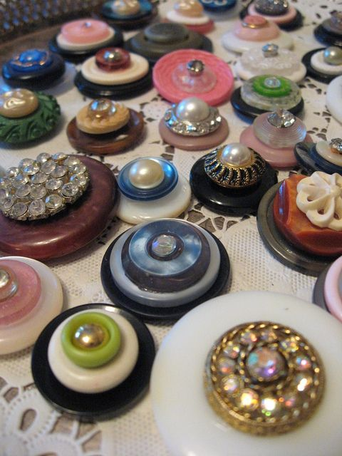 Button Magnets or Charms This gives me another idea. Stack them and glue them to create beads for my bracelet. Insert the hinge of a pin between layers to form a way to attach them to the chain