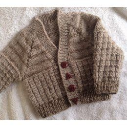 Warm waffled baby cardigan