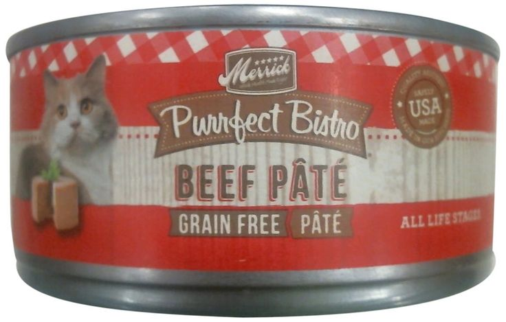 Merrick Purrfect Bistro Grain Free Beef Pate Canned Cat Food, 5.5 oz., Case of 24 -- Check this awesome image  : Best Cat Food