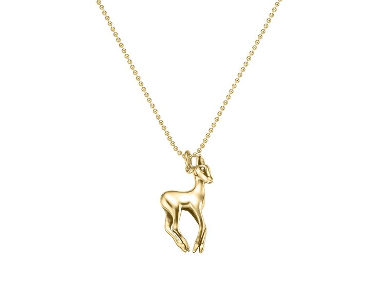 strawberry & cream's golden bambi necklace  goldene Rehkitzkette von strawberry & cream