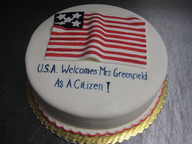 American Flag Cake   photo