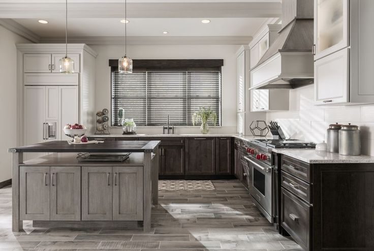 York Reverse Raised maple Smoke, York Flat Panel maple Irish Creme Classic, Mission Flat Panel quartersawn oak Greystone.  Order Medallion Cabinetry direct from factory; 650-704-2221