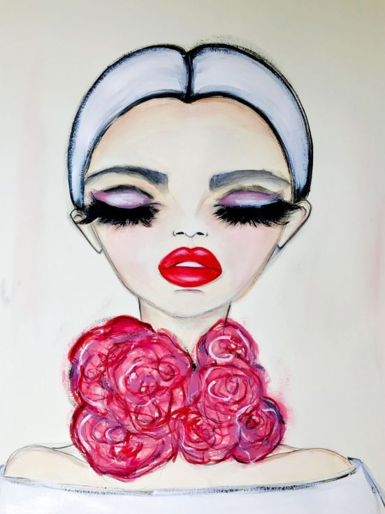 Buy Rose Choker, Mixed Media painting by Wendy Buiter on Artfinder. Discover thousands of other original paintings, prints, sculptures and photography from independent artists.