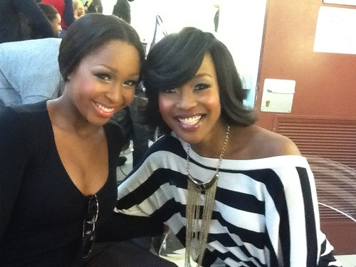 Minnie chilling with Lorna Maseko backstage at the Gauteng Sport Awards. #LEGiT #MinnieDlamini