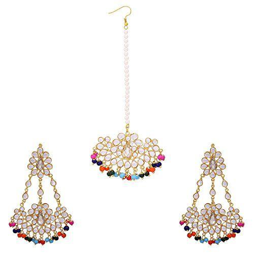 VVS Jewellers Multicolor Kundan Moti Wedding Maang Tikka ... https://www.amazon.com/dp/B072M2CLGG/ref=cm_sw_r_pi_dp_x_ZoNpzbYN8M3GJ