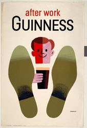 'After work Guinness' poster designed by Tom Eckersley. His archive is housed at the University of the Arts London Archives and Special Collections Centre.